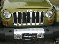 Jeep Wrangler Grille Grill insert chrome 07 08 09 2010