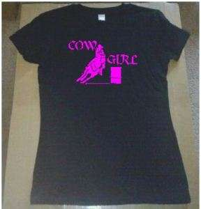 COWGIRL UP BARREL RACING RACER T SHIRT CLOTHING PINK