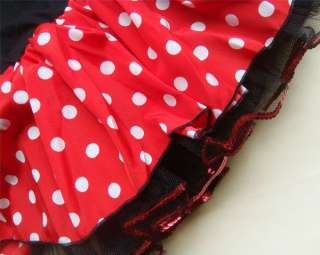 Halloween Disney Minnie Mouse Girls Pary Costume Ballet Tutu Fancy