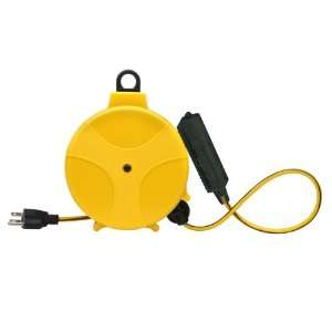 Designers Edge E315 20 Foot Yellow Retable Extension Cord Reel