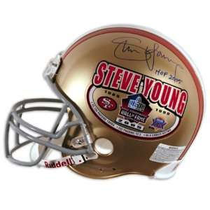 Steve Young Autographed Helmet   Authentic Hall of Fame