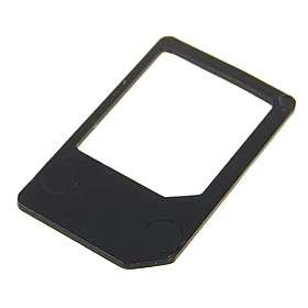 Card to Standard Sim Card Adapter for iPhone 4/iPad (Black) #00121841