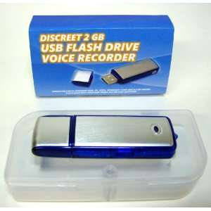 2GB USB Flash Drive Voice Recorder   Digital, 50 Hours Electronics