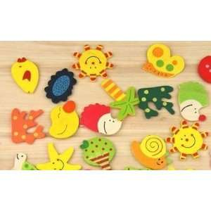 Wooden Fridge Magnets 12 pack