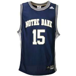 adidas Notre Dame Fighting Irish #15 Navy Replica Basketball