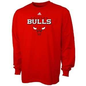 adidas Chicago Bulls Red Youth True Long Sleeve T shirt