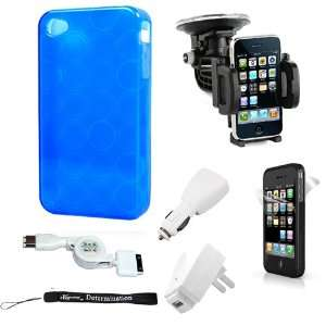 Premium Blue TPU Flexi Skin Cover for Apple iPhone 4 / 4th Generation