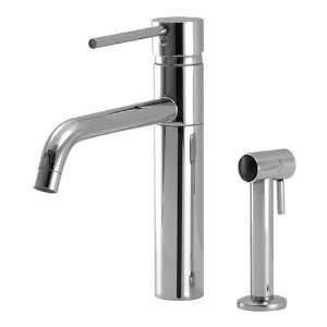 AquaBrass 1102S Brushed Nickel Single Handle Kitchen Faucet