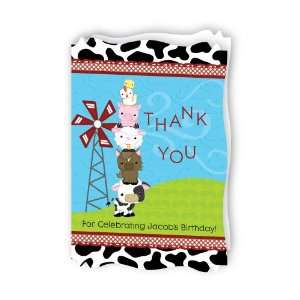 Farm Animals   Personalized Birthday Party Thank You Cards