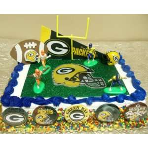 Unique NFL Football Green Bay Packers 15 Piece Birthday Cake Topper
