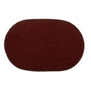 Rug 22 8x28 Solid Burgundy 8 in. x 28 in. Braided Stair Tread Home
