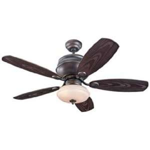 Carlo Weatherstar Wet Ceiling Fan with Light Kit