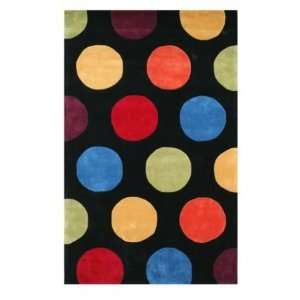 The American Home Rug Company Dots 8 Round black Area Rug