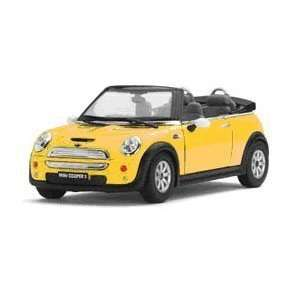 Die Cast Convert. Mini Cooper, Colors red, yellow, sky