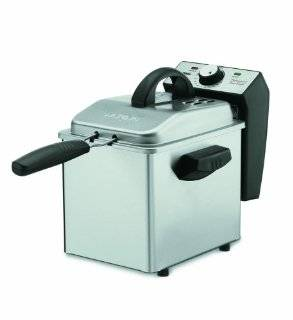 DF55 Professional Mini 1 2/7 Pound Capacity Stainless Steel Deep Fryer