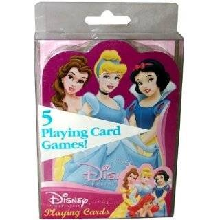 Disney Princess Cinderella Snow White Belle Ariel Aurora Playing Cards