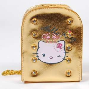 Hello Kitty Digital Camera Case Bag Pouch Gold Camera