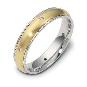 Titanium & 18 Karat Yellow Gold SPINNING Diamond Wedding Band Ring   6