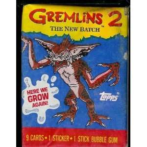 Topps Gremlins 2 Trading Card Pack   9 cards per pack