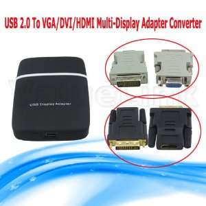 to Vga/dvi/hdmi Multi display Adapter Converter