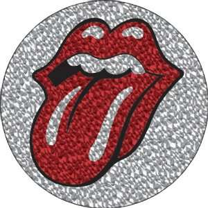 THE ROLLING STONES GLITTER TONGUE BUTTON