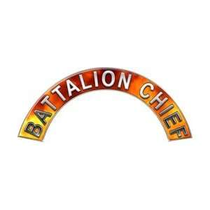 Battalion Chief Real Fire Firefighter Fire Helmet Arcs / Rocker Decals