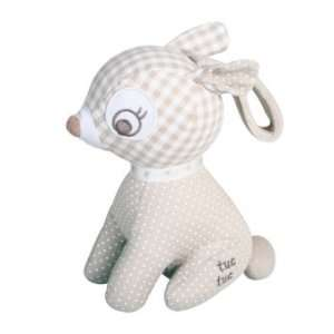Tuc Tuc Light Grey Deer Pull String Musical Soft Baby Toy