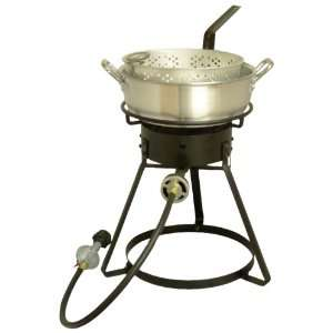 Outdoor Propane Cooker Package with Aluminum Fry Pan Patio, Lawn