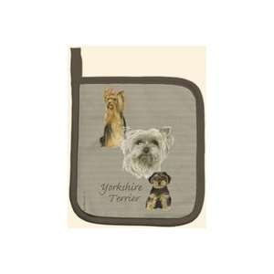 Yorkshire Terrier Puppy Dog Kitchen Potholder  Kitchen