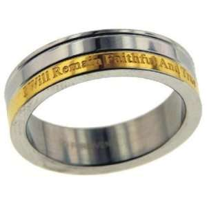 Purity Thin Band Stainless Steel Ring Size 8 (RSPU)