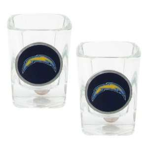San Diego Chargers   NFL 2oz Square Shot Glass Set (Blue)   2 Pack