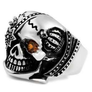 Gothic Skull MENS Stainless Steel Ring Size 9 Justeel