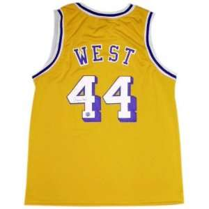 Jerry West Autographed Gold Custom Jersey