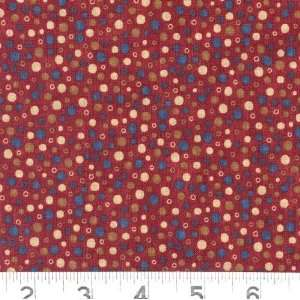 45 Wide 76 Trombones Dots Burgundy Fabric By The Yard