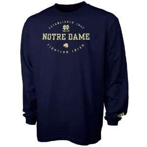 adidas Notre Dame Fighting Irish Navy Blue Renegade Long Sleeve T