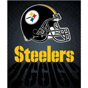 Pittsburgh Steelers Royal Plush Raschel NFL Blanket (Lights Series) by