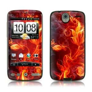com Flower Of Fire Design Protector Skin Decal Sticker for HTC Desire