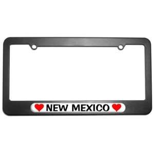 New Mexico Love with Hearts License Plate Tag Frame