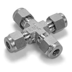 Ham Let Stainless Steel 316 Let Lok Compression Fitting, Cross, 1/2
