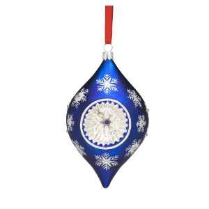 Reed & Barton Snowflake Reflector Ornament, Blue/White