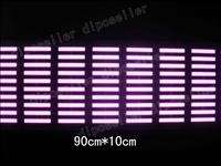EL Car Stickers Sound music Activated Equalizer Glow 12V LED Light 90