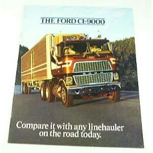 1978 78 Ford CL9000 Truck BROCHURE big rig