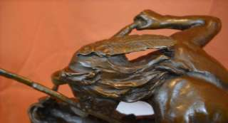 Cheyenne Remington Bronze Statue Mustang Horse SALE