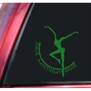 Dave Matthews Band Vinyl Decal Sticker   Green Automotive