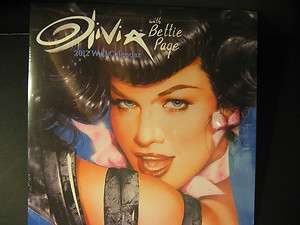 OLIVIA BETTIE PAGE 16 MONTH 2012 WALL CALENDAR