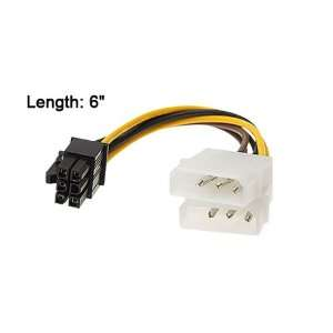 Gino IDE 4 Pin Power to 6 Pin ATX Power Adapter Cable